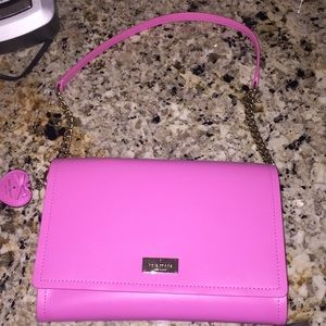 Pink Kate Spade Purse with matching Heart Keychain